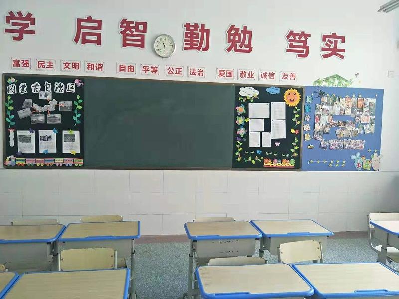 教室后墙黑板